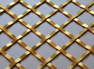 Brass Woven Grille Diamond 5mm, 25mm