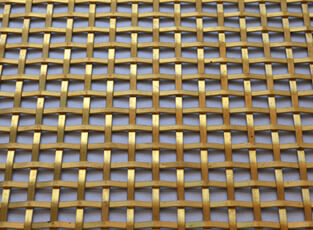 Brass Woven Grille Plain Square 3mm, 8mm
