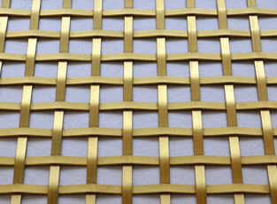 Brass Woven Grille Plain Square 5mm, 13mm