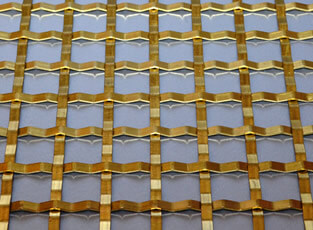Brass Woven Grille Plain Square 5mm, 19mm