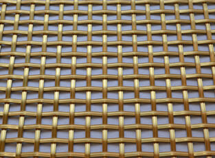Brass Woven Grille Reeded Square 3mm, 8mm