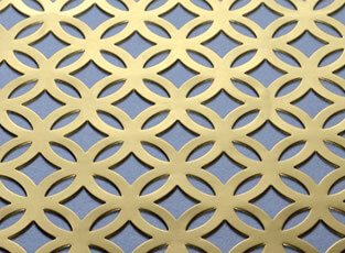 Filigree Pierced Brass Grille