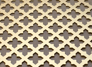 Sandringham Pierced Brass Grille with Mesh